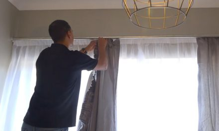 Bedroom makeover : How to install a curtain rail