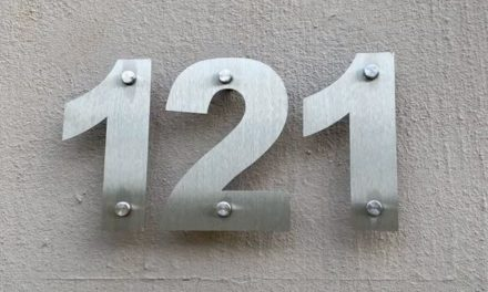 How to install a 3d house number