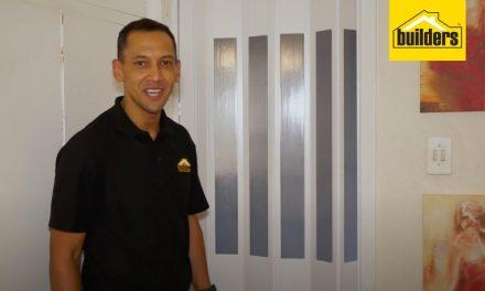 How to install a bathroom folding door
