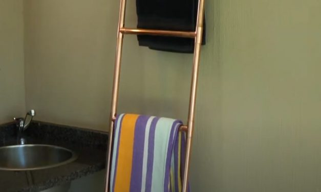 How to make a copper towel rail
