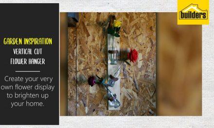 How to make a vertical flower hanger