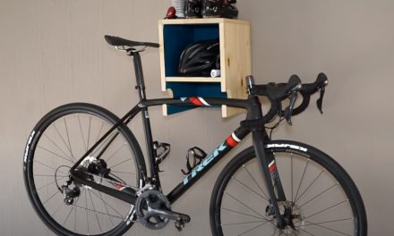 How to make a wall mounted bike rack