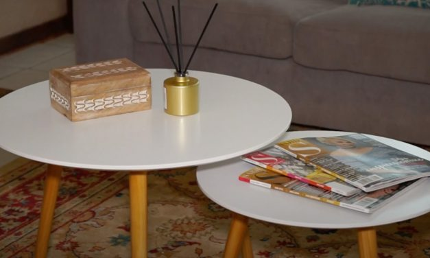 How to assemble a flat pack side table set