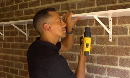 How to install a shelf in your garage