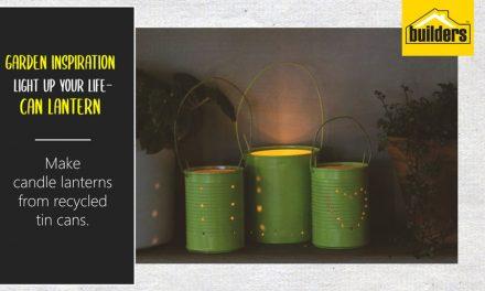 Make lanterns from recycled tins