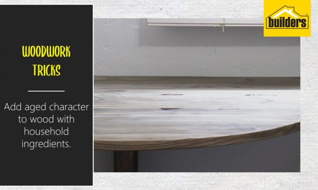 How to stain wood with household items