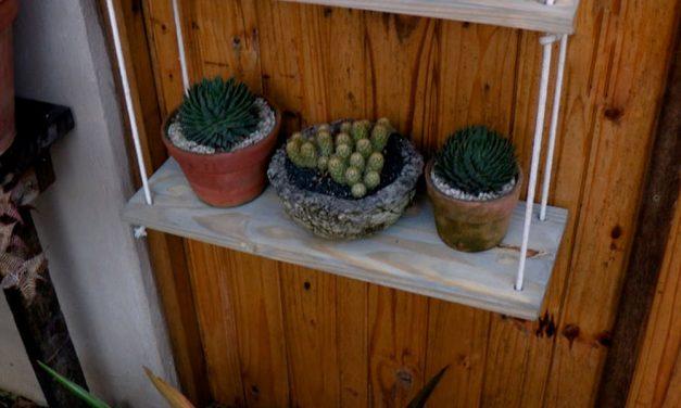 How to make a 3 tier rope plant shelf