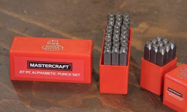 Mastercraft number punch set