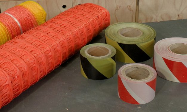 Barrier tape and netting