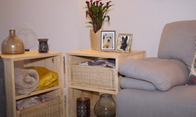 How to Make a Coffee Table with Baskets