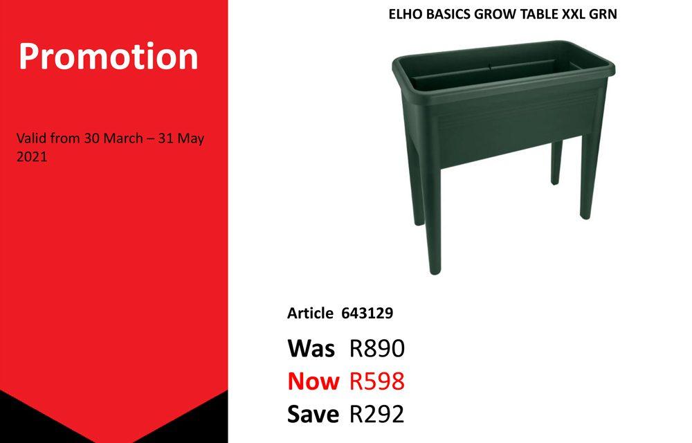 Special : ELHO BASICS GROW TABLE XXL GRN