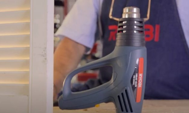 How to use the Ryobi Heat Gun to strip paint and soften adhesives