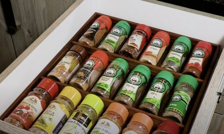Get Your Spices In Order With This DIY Spice Drawer Organiser