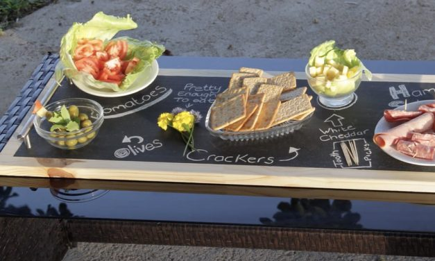 How to Make a DIY Chalkboard Serving Tray