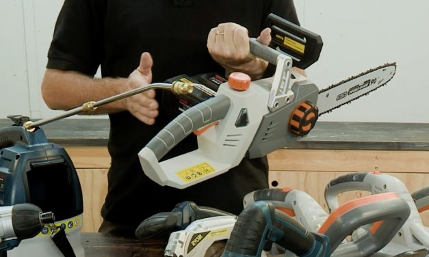 The Ryobi Cordless Chainsaw Makes Pruning Easier!